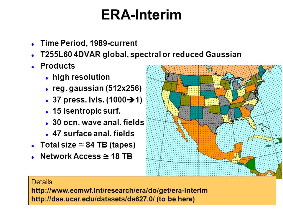 ERA-Interim Time Period, 1989-current