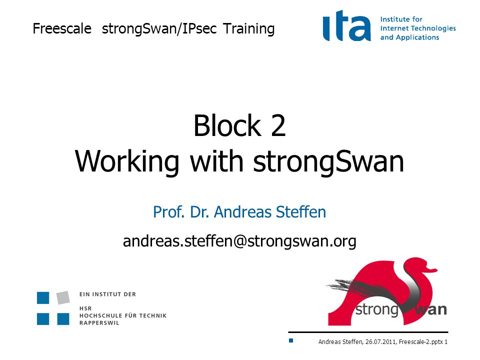Freescale strongSwan/IPsec Tra...