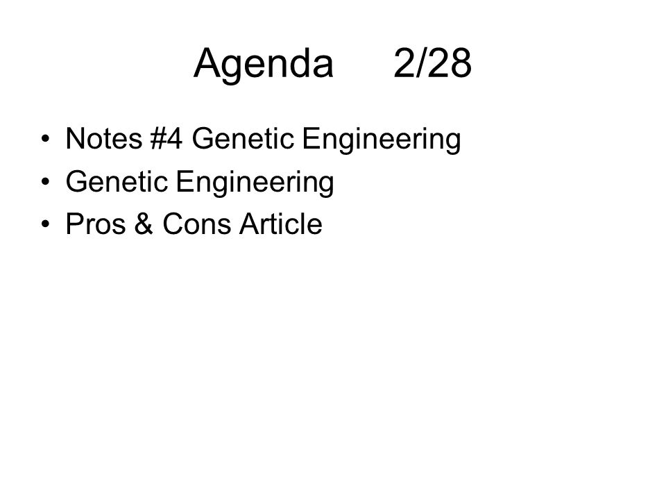 genetic engineering pros and cons pdf