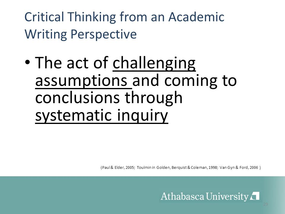 critical thinking assumptions