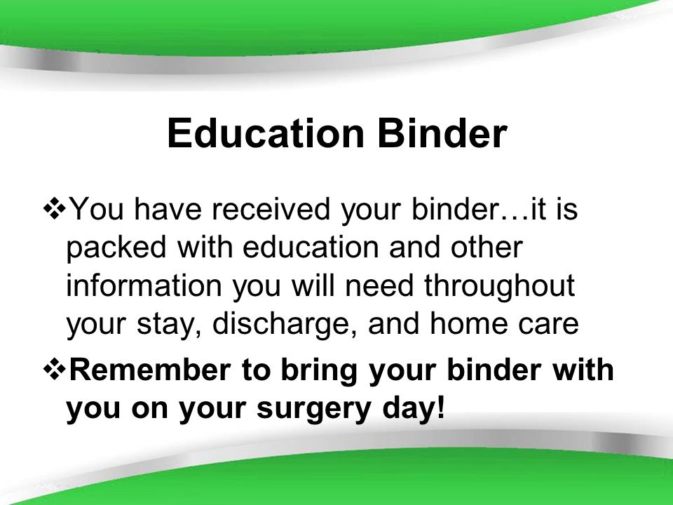 Education Binder