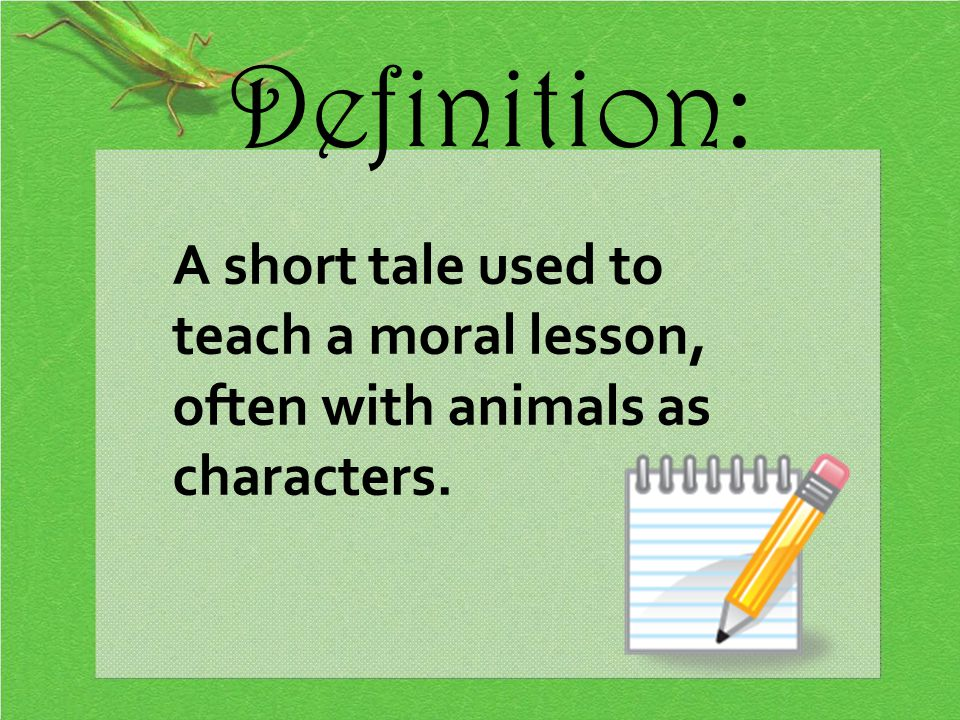 Fables ppt video online download for Tale definition