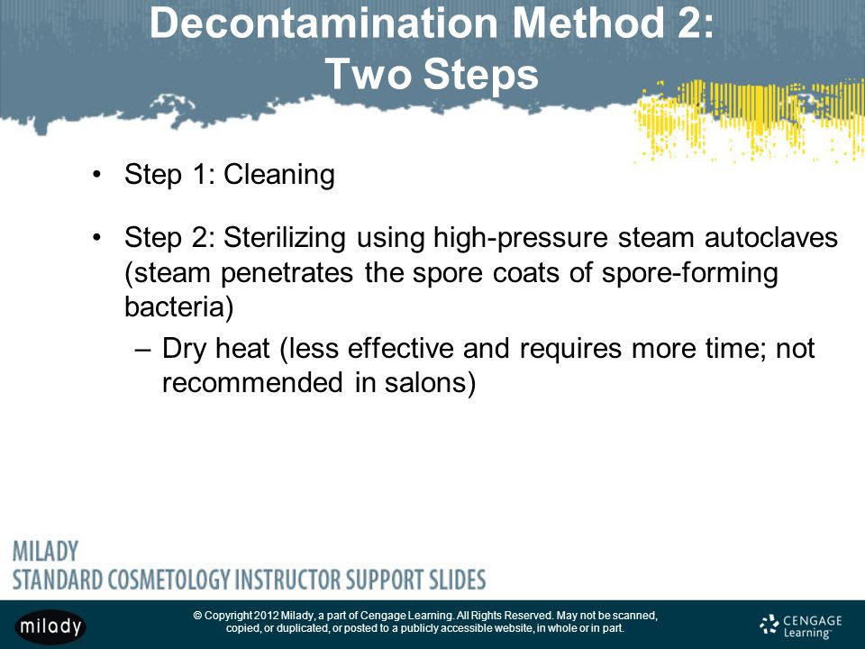 Chapter 5 infection control principles and practices for 3 methods of sterilization in the salon