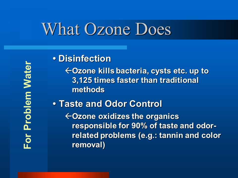 Ozone For Disinfection Ppt Video Online Download