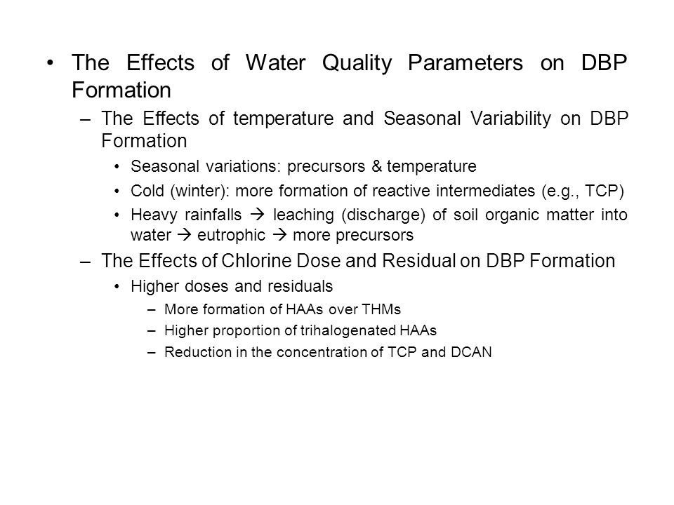 1 chemistry of disinfection by product formation ppt for Soil quality parameters