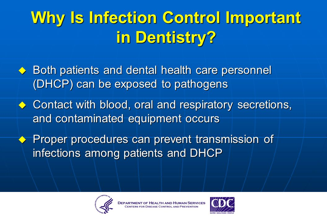 infection control in dental care essay This is a revision to the guidelines on infection control in the dental office issued in january 2002 the guidelines of the royal college of dental surgeons of ontario contain practice parameters and standards which should be considered by all ontario dentists in the care of their patients it is important to note that these.