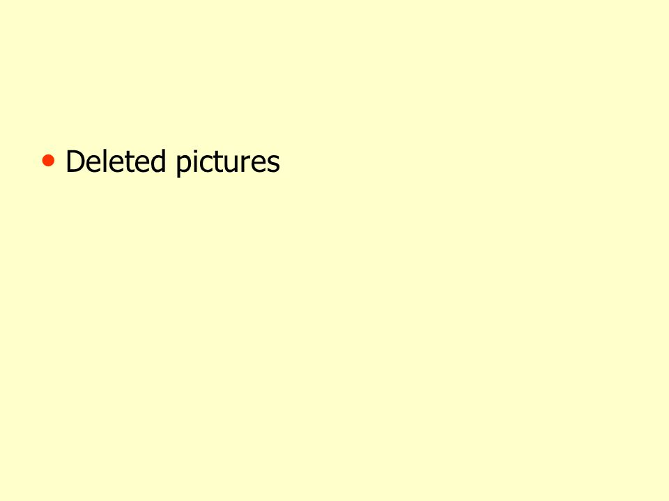 Deleted pictures