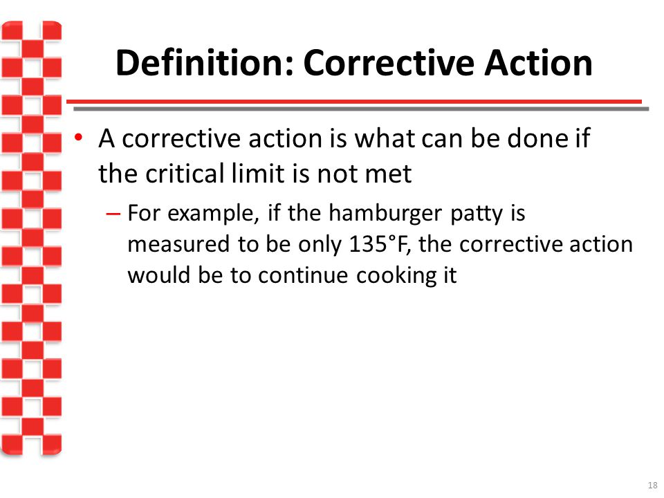 Definition: Corrective Action