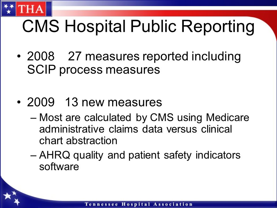 CMS Hospital Public Reporting