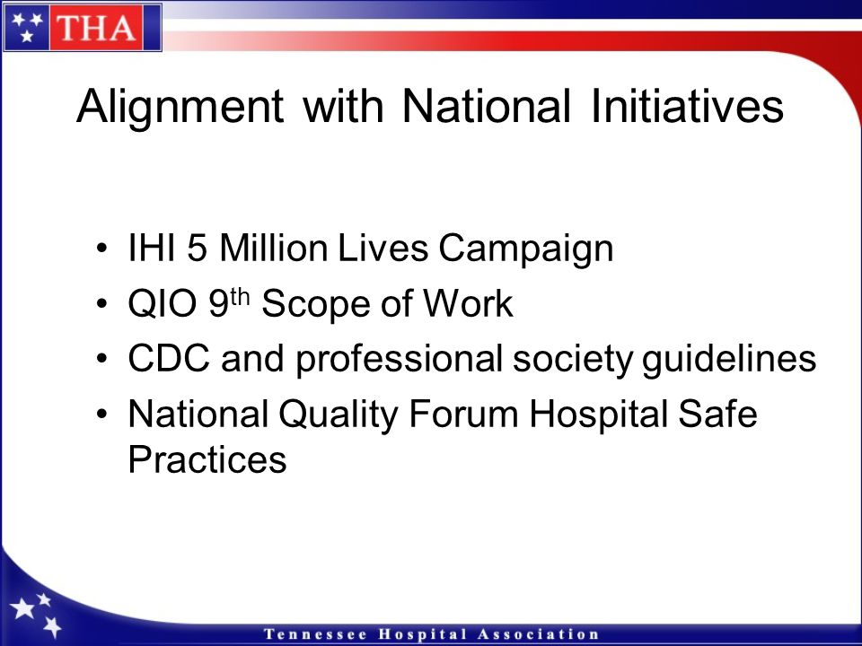 Alignment with National Initiatives