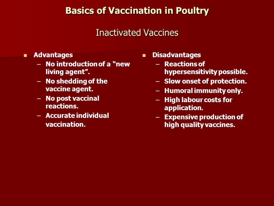 advantages and disadvantages of vaccines pdf