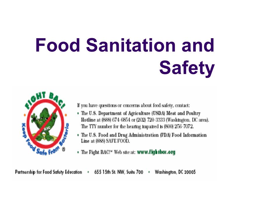 food micro and sanitation and safety