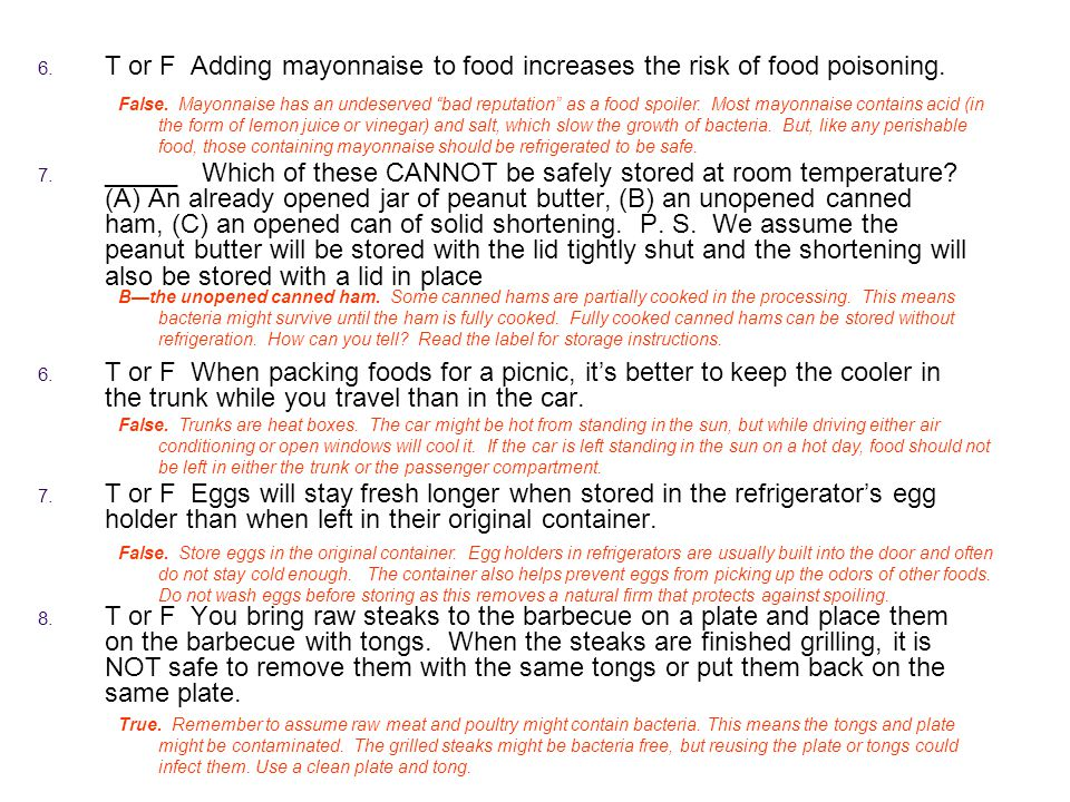 how to keep cooked food from spoiling without a refrigerator