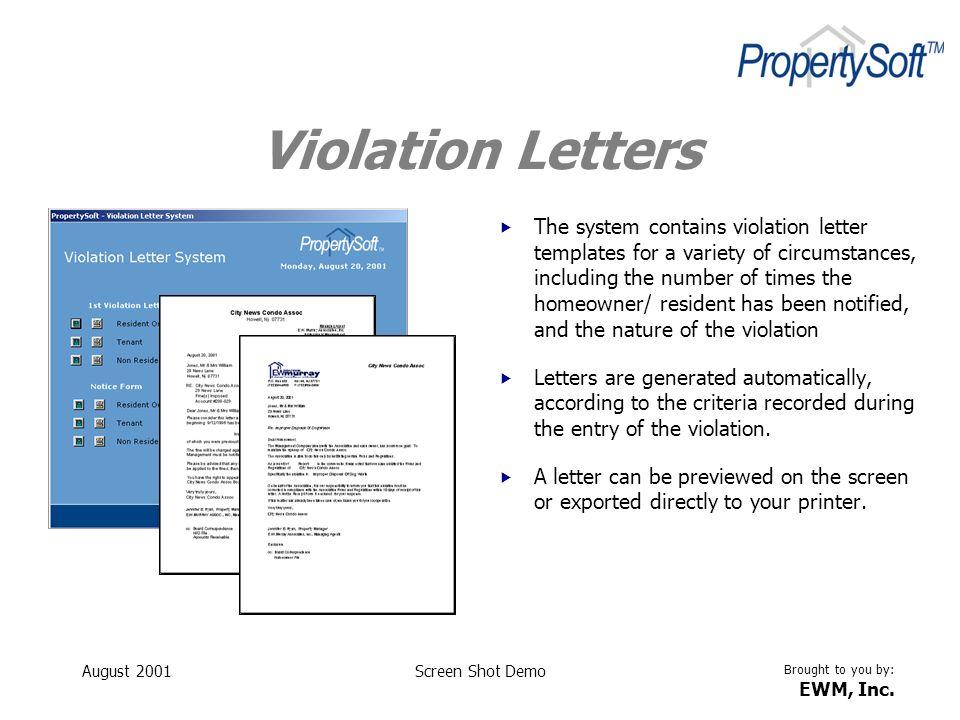 Violation Letters