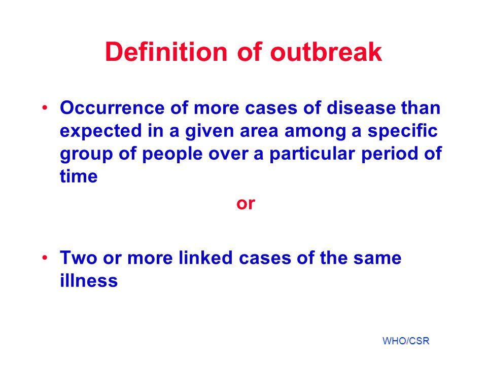 Definition of outbreak