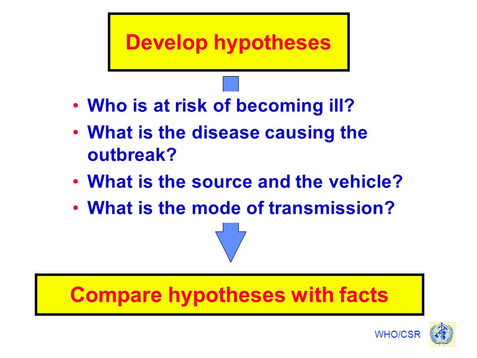 Compare hypotheses with facts