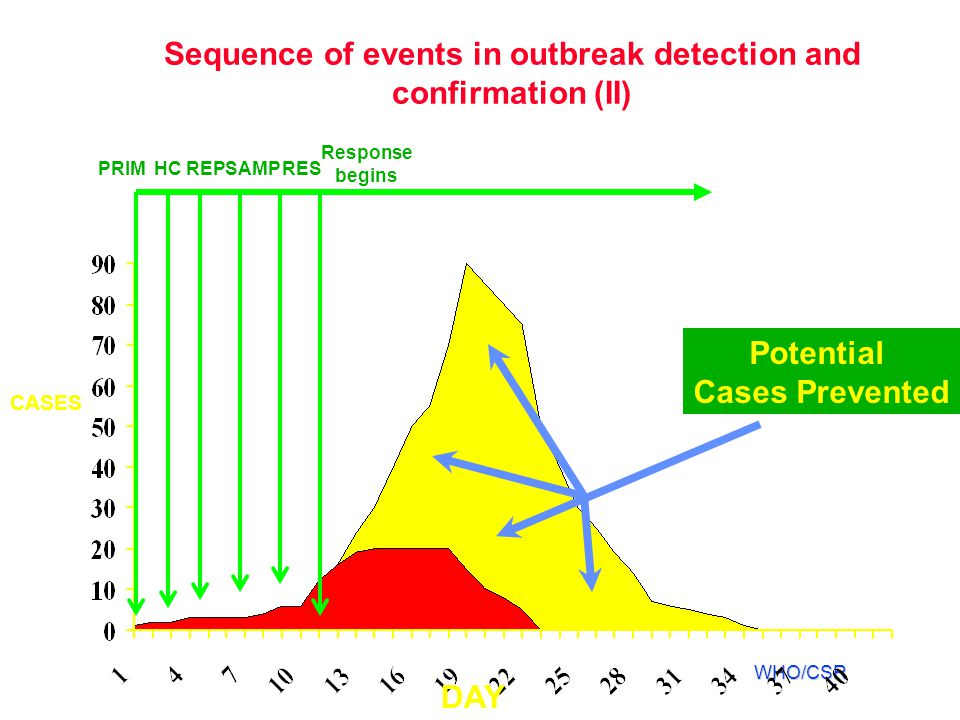Sequence of events in outbreak detection and confirmation (II)