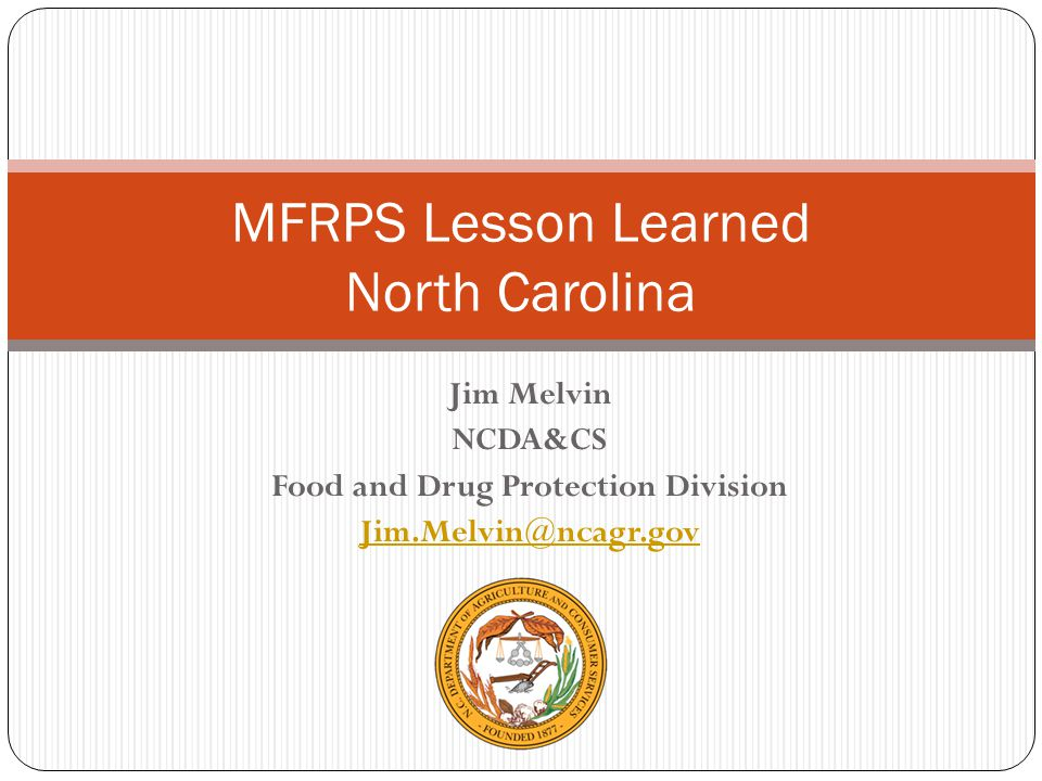 MFRPS Lesson Learned North Carolina
