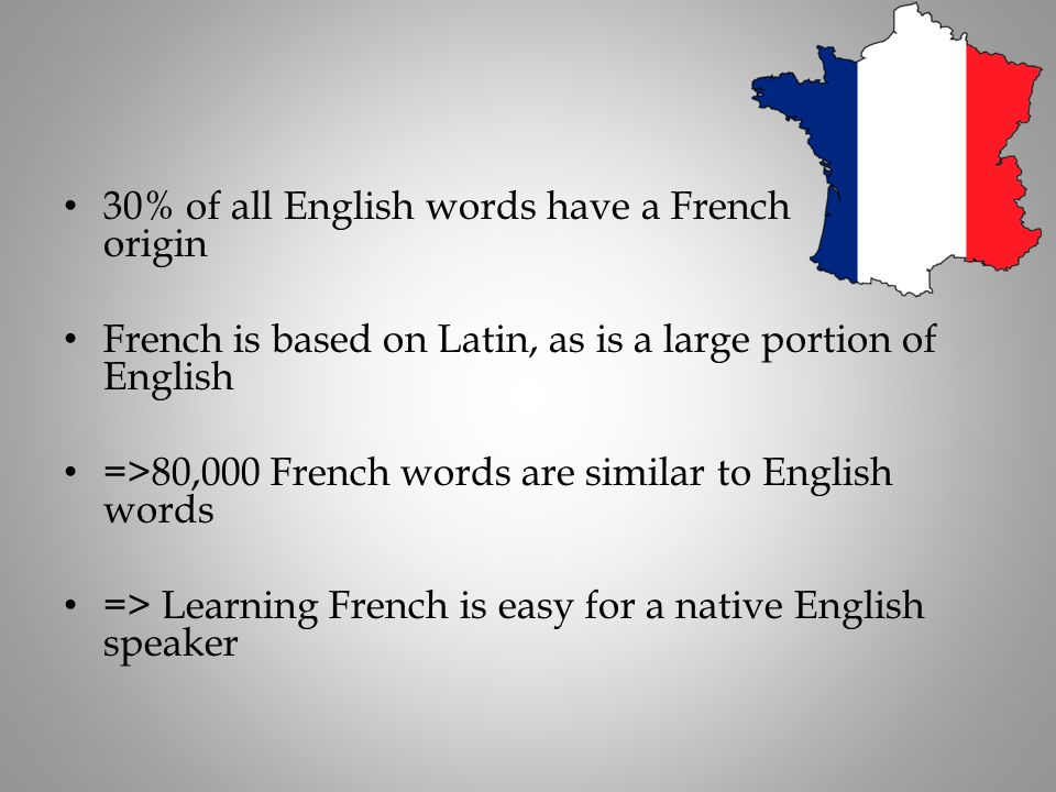 30% of all English words have a French origin