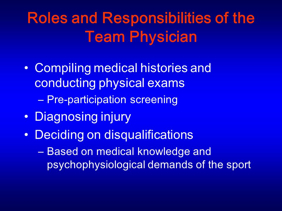 roles and responsibilities of a t