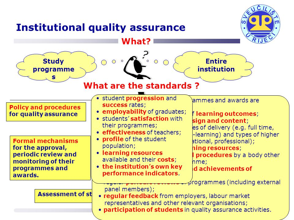 what is the relationship between standardisation and quality