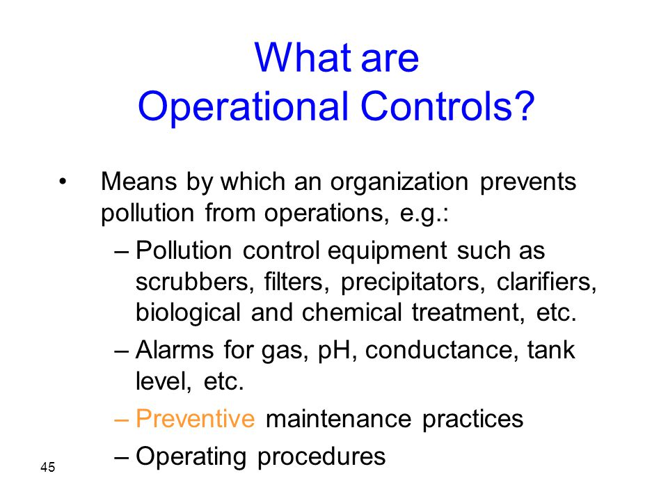 What are Operational Controls