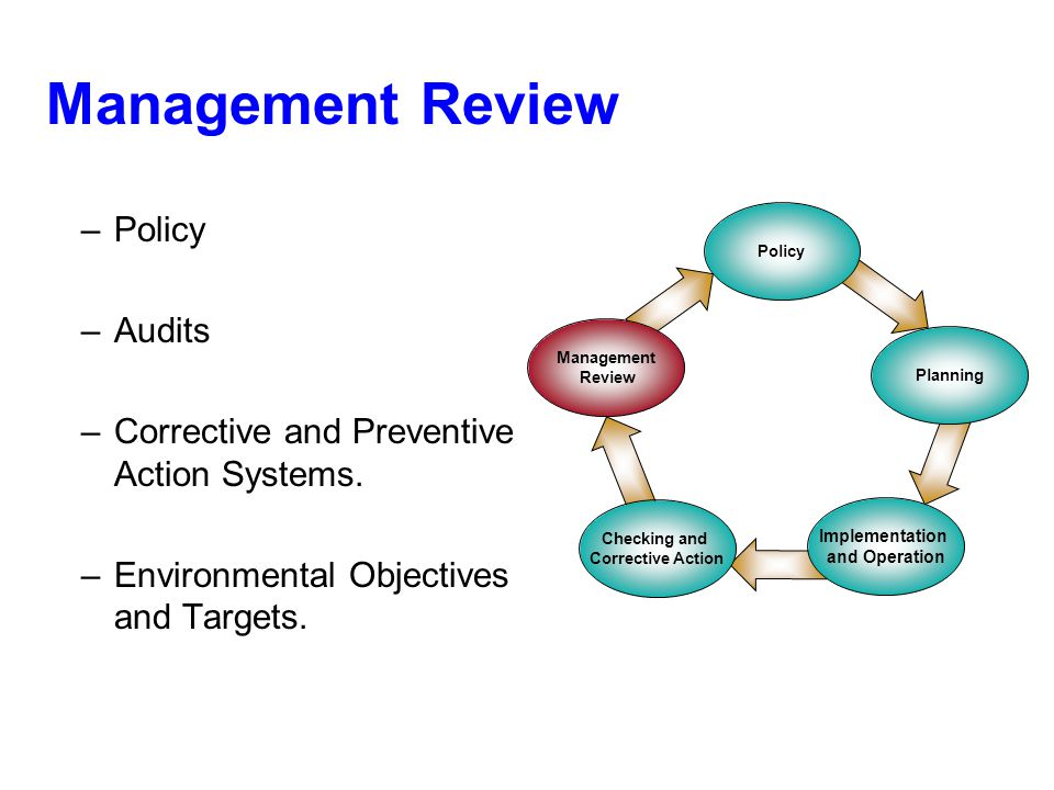 Management Review Policy Audits