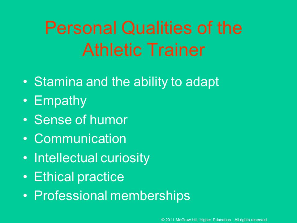 characteristics and skills of athletic trainer Our study aimed to examine athletics, training characteristics, and prevalence of  musculoskeletal  role of physical skills for tennis performance is known.
