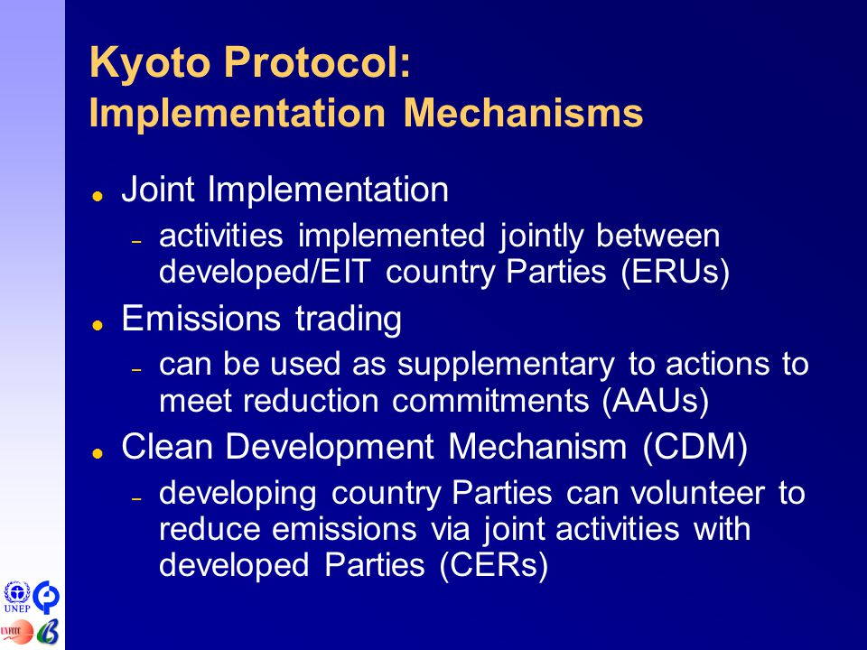actions to meet kyoto protocol goals