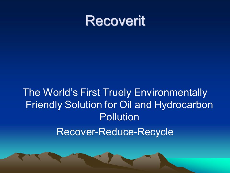 Recover-Reduce-Recycle