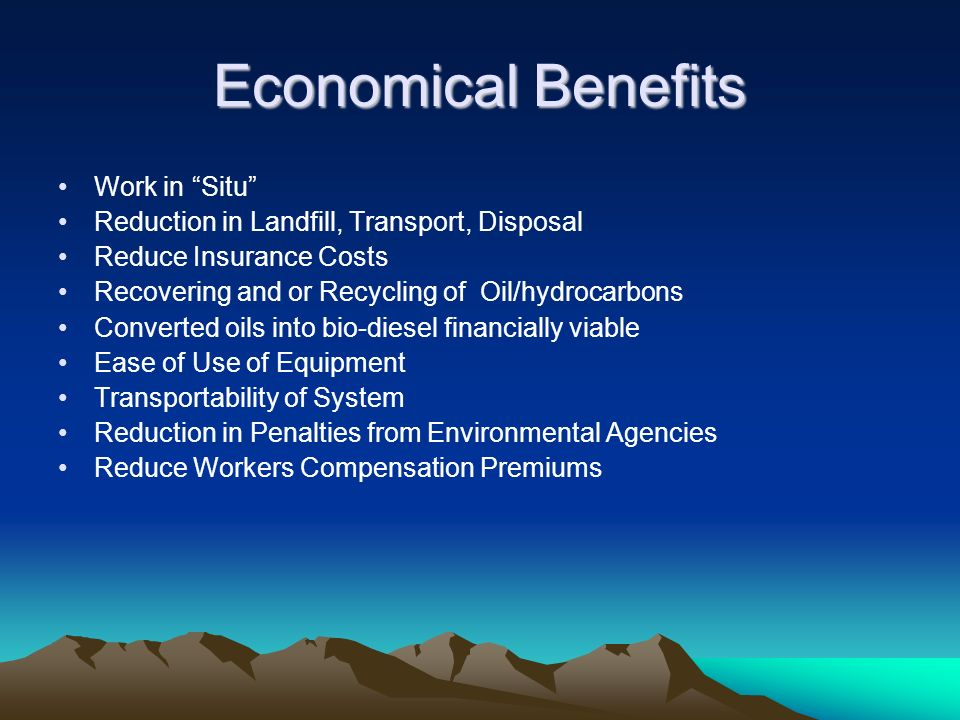 Economical Benefits Work in Situ