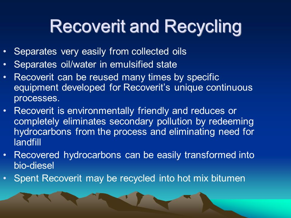Recoverit and Recycling