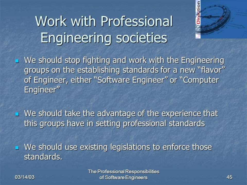 The Professional Responsibilities Of Software Engineers - Ppt Download