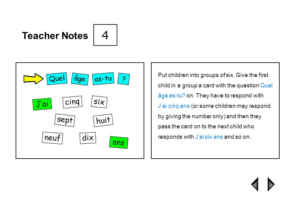 4 Teacher Notes.