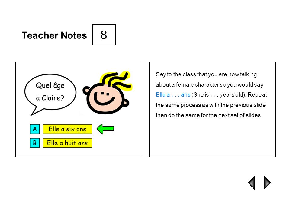 8 Teacher Notes.
