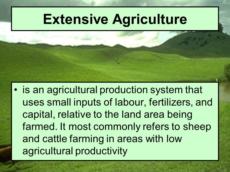 Extensive Agriculture