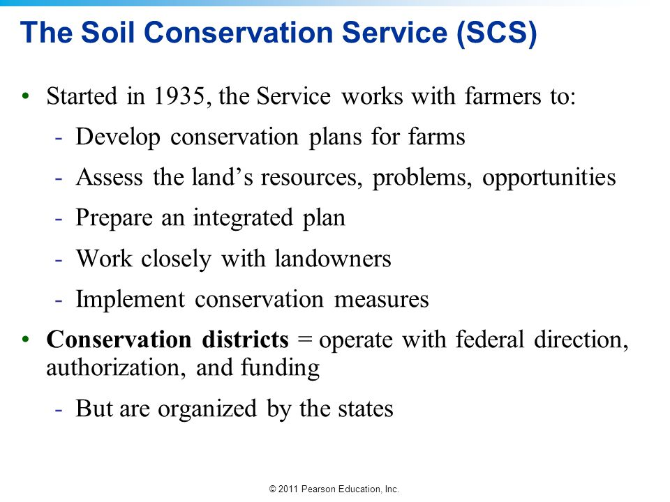 The Soil Conservation Service (SCS)