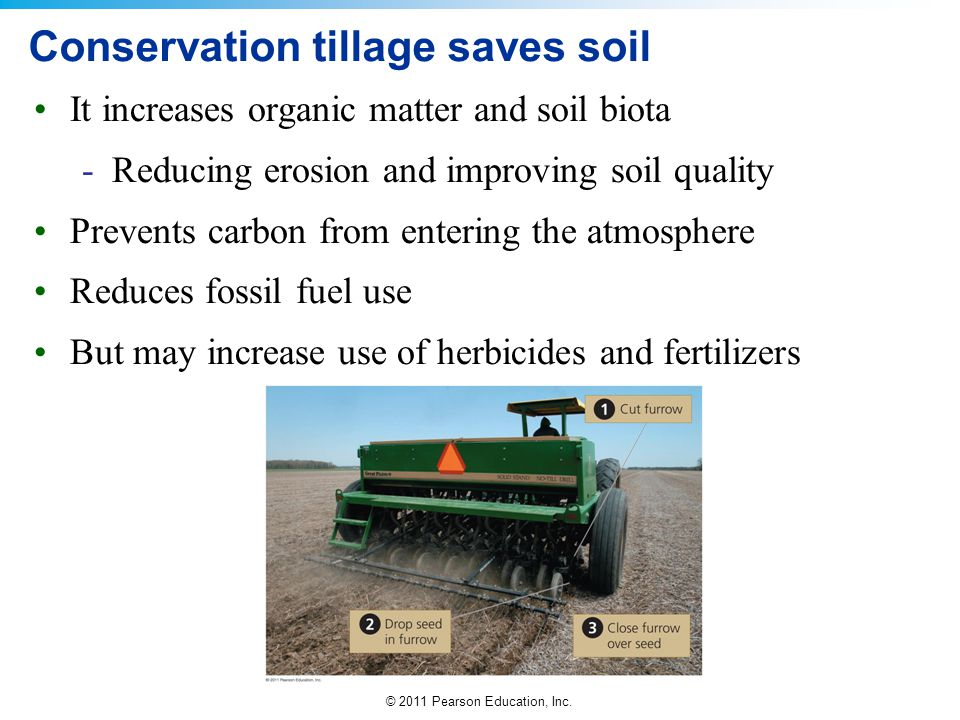 Conservation tillage saves soil