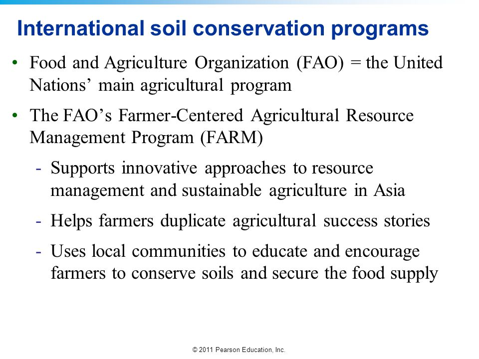 International soil conservation programs