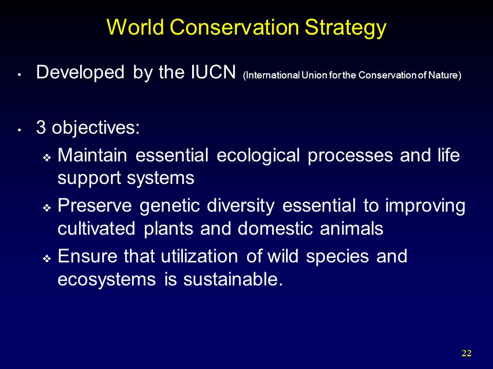 World Conservation Strategy