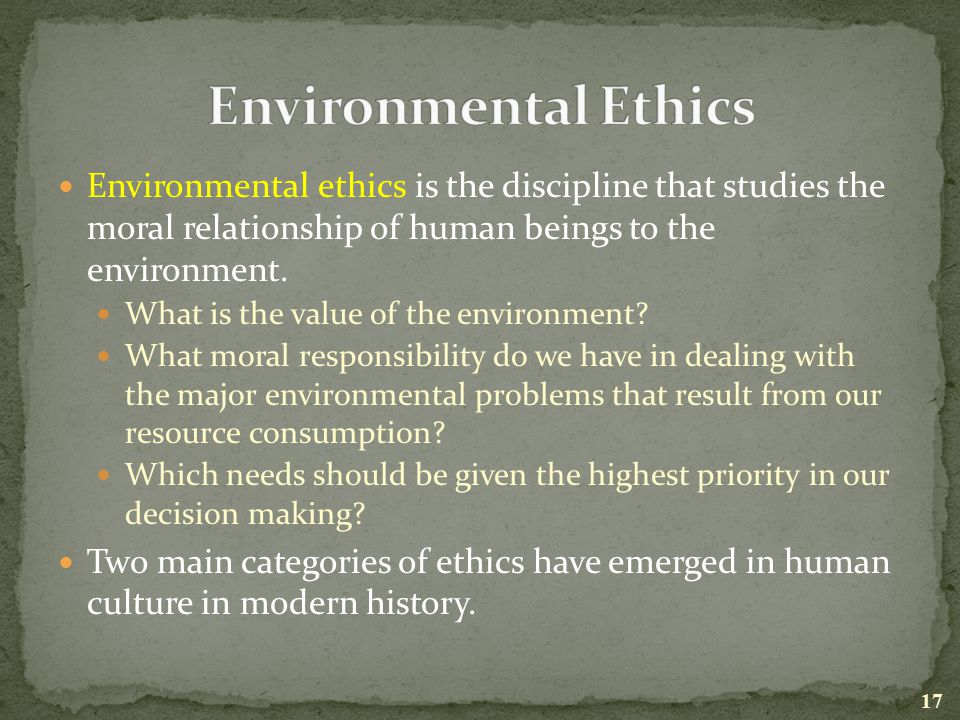 human relationship with the environment I human environment relationship 1 our discussion will center around the relationship between human actions and the environmental consequences of those actions.