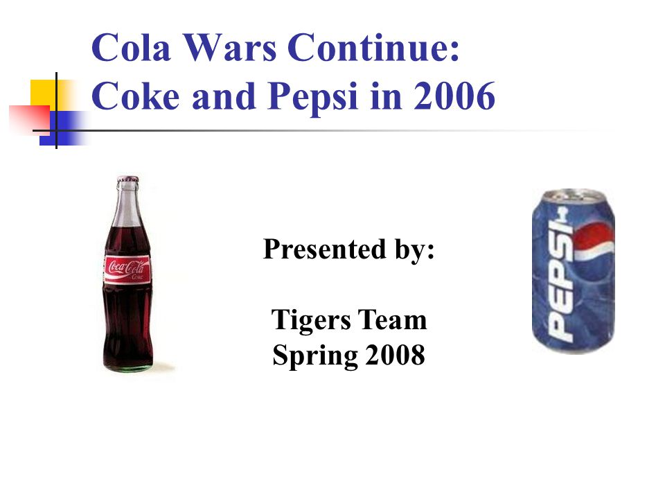 the cola wars 3 essay To interpret the case of the cola wars between coca-cola and pepsi, this paper applies the 11 steps of james evan's strategic management framework for middle managers, which is appropriate for analyzing the expansion campaign of any business.