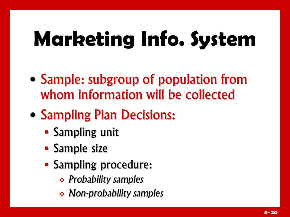 Marketing Info. System Research Instruments: Questionnaires