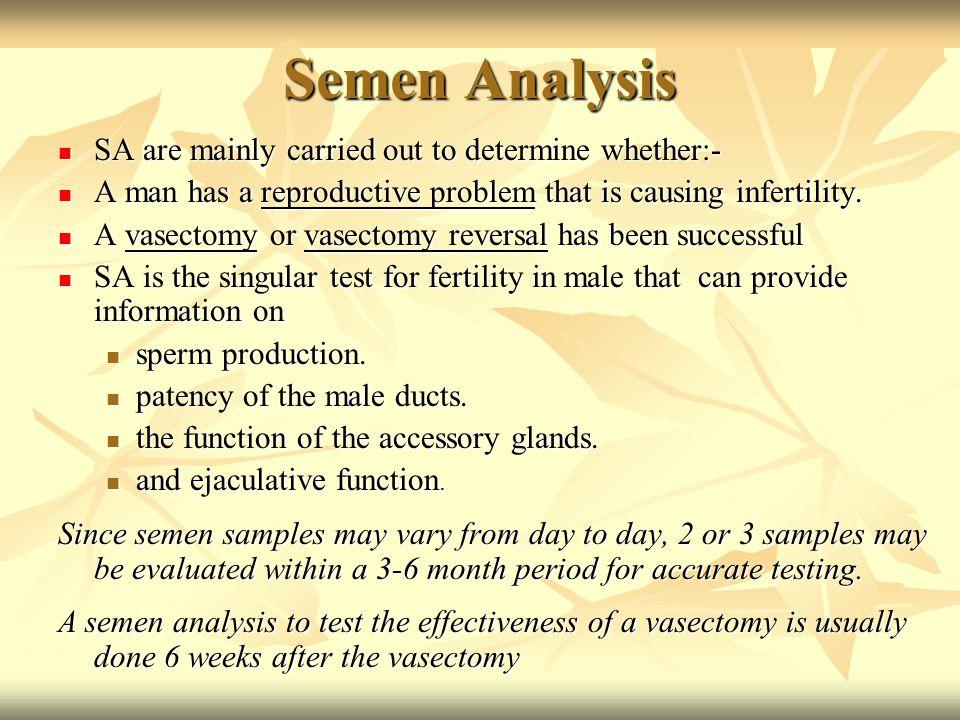 Semen Analysis and Sperm Preparation - ppt download