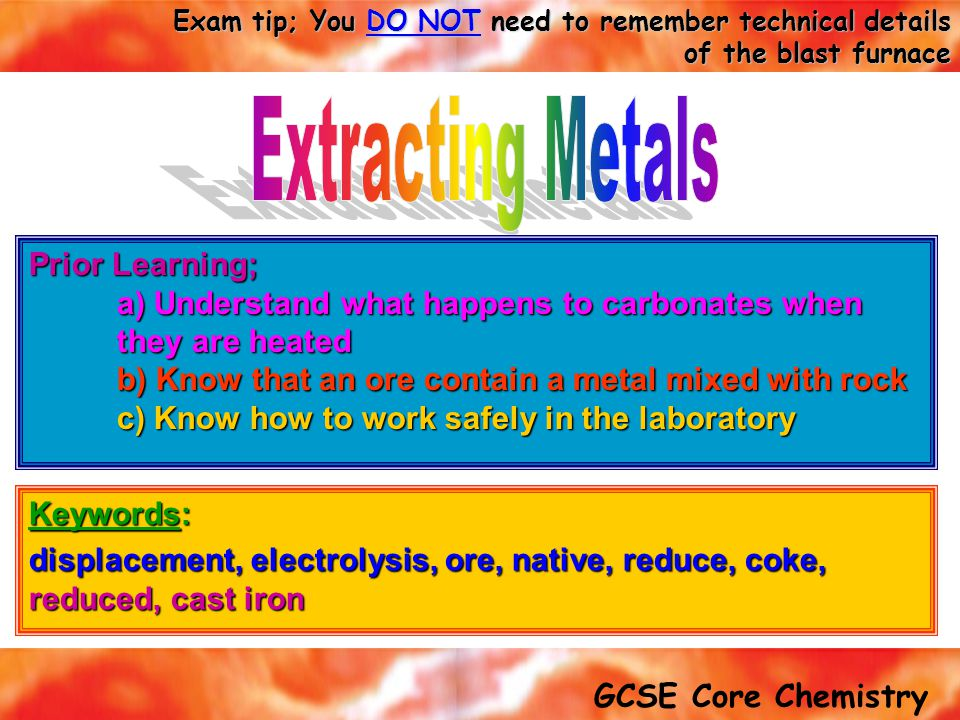Extracting Metals Prior Learning