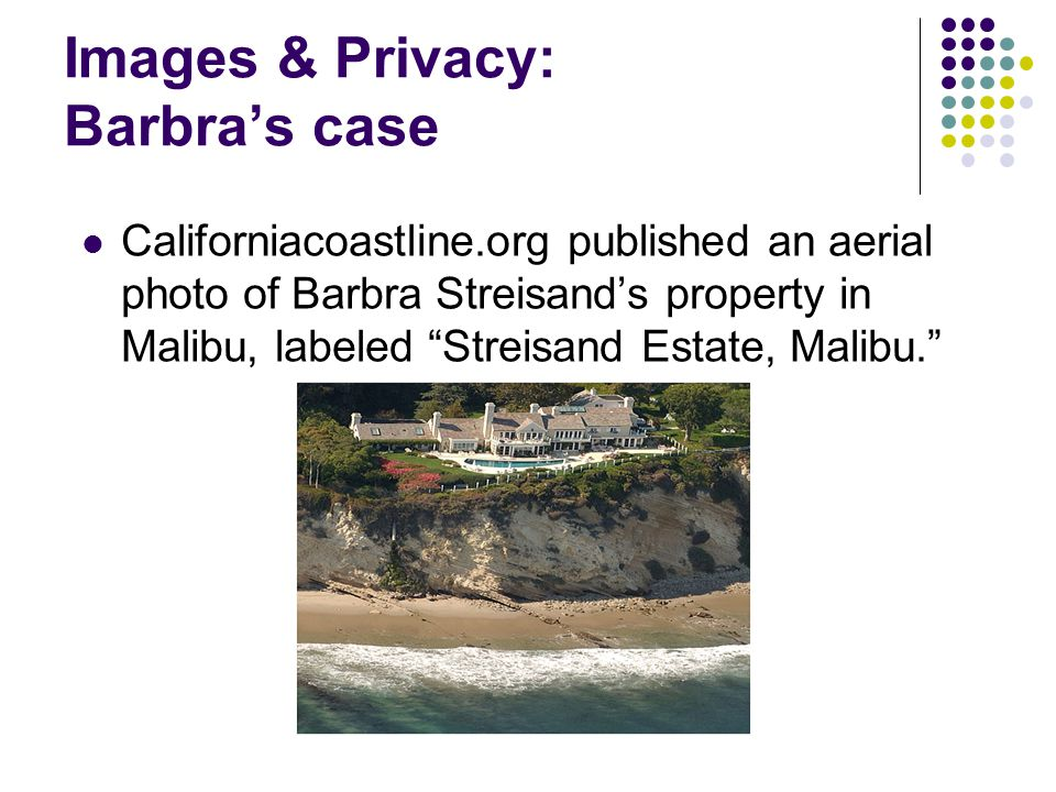 Images & Privacy: Barbra's case