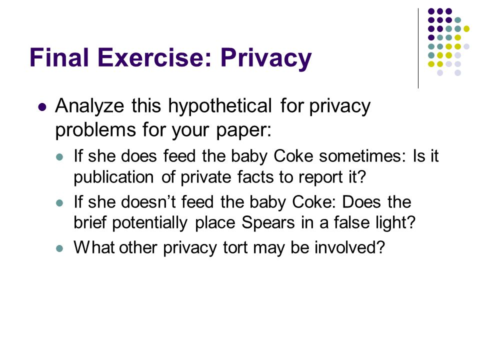 Final Exercise: Privacy