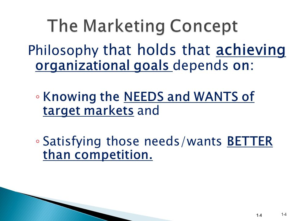 the concept of needs wants and A product is anything that can be offered to satisfy a need or want offering and solution are synonyms to the product in marketing context a product or.