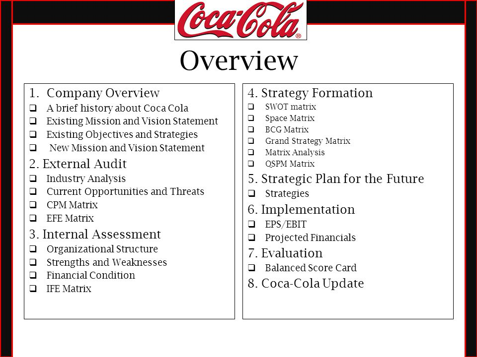 chapter 2 case study coca cola essay Mgt599 mod 2 case: coca-cola - external environment, internal profile, and swot (case study sample) instructions: module 2 case study chapter 10 boeing.