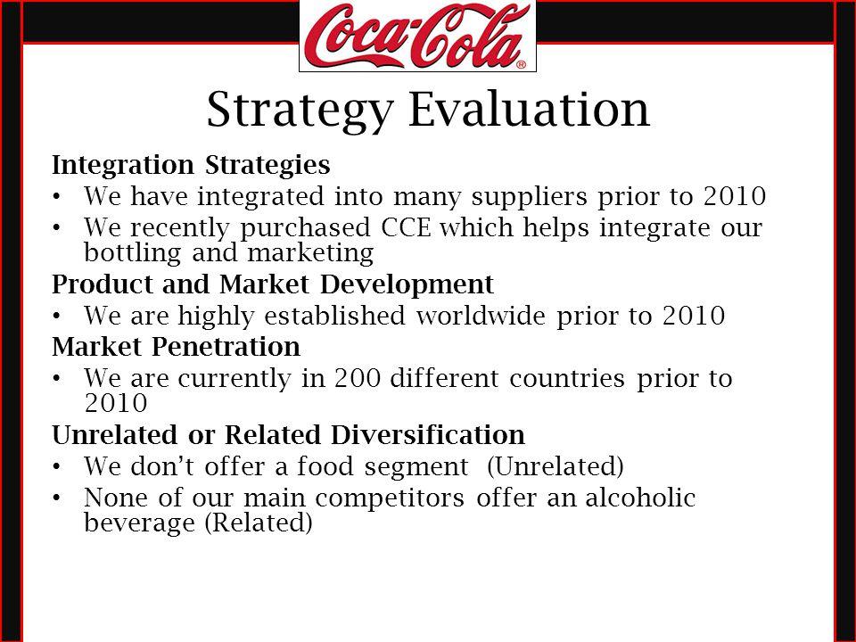 coca cola evaluation strategy Coca cola international strategic management project report discusses about internal factor evaluation matrix (ife) of coca cola co, swot analysis of coca cola company, internal factor evaluation matrix (ife) of coca cola co.
